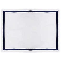 Martex® Hotel Ultra Soft Standard Pillow Sham in White/Navy