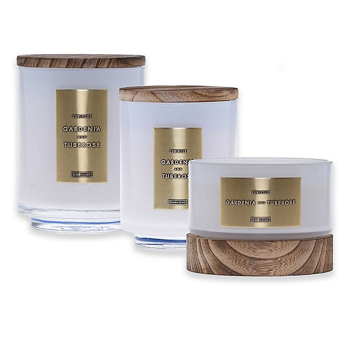 Alternate image 1 for DW Home Gardenia and Tuberose Wood Candle Collection