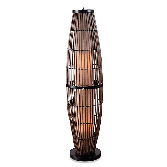 Indoor Outdoor Rattan Floor Lamp