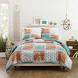 Jessica Simpson Verano Reversible Twin/Twin XL Comforter Set in Coral