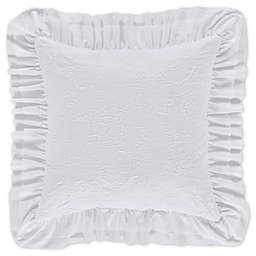 Piper & Wright Emily Square Throw Pillow in White