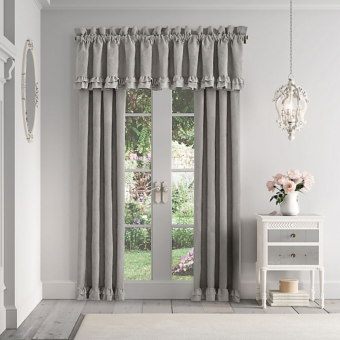 Alternate image 1 for Piper & Wright Emily 2-Pack 84-Inch Rod Pocket Window Curtain in Alloy