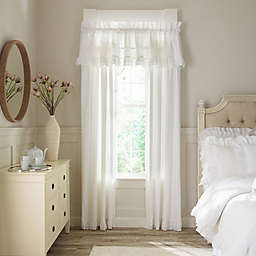 Piper & Wright Emily 2-Pack 84-Inch Rod Pocket Window Curtain in White