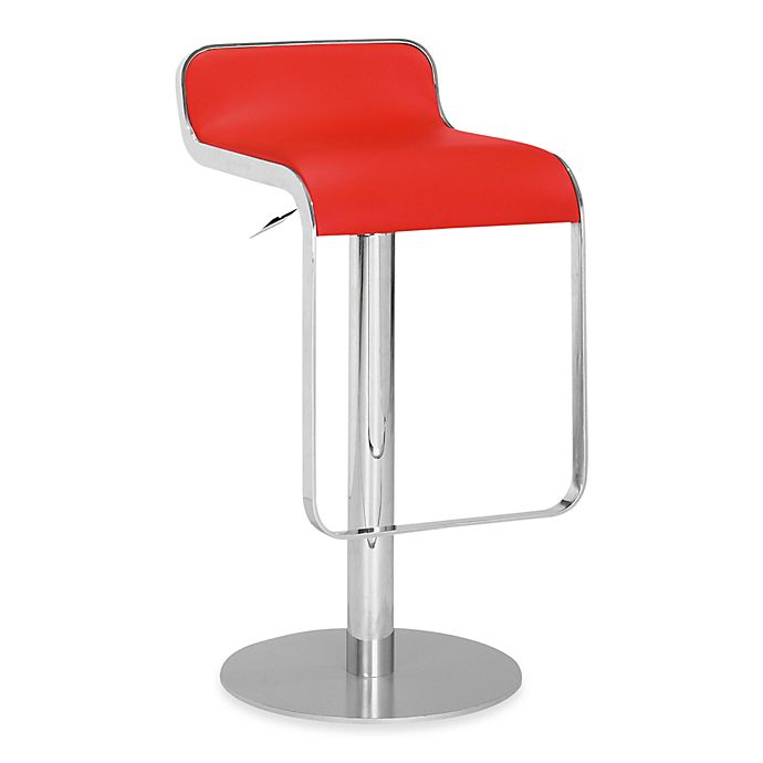 Alternate image 1 for Zuo® Modern Equino Bar Stool in Red