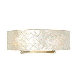 Varaluz Radius Vanity Light in Herringbone