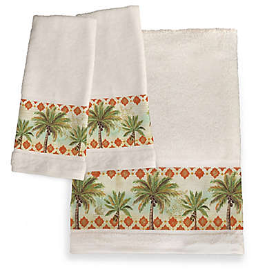 Laural Home® Spice Palm Hand Towel Set of 2