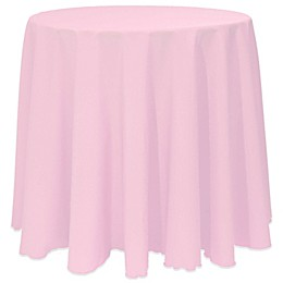 Basic Round Tablecloth in Light Pink
