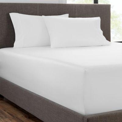 Wamsutta Finest Sateen 725-Thread-Count King Flat Sheet in White NEW