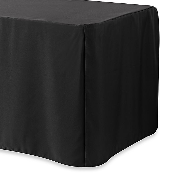 Alternate image 1 for 6-Foot Table Cover in Black