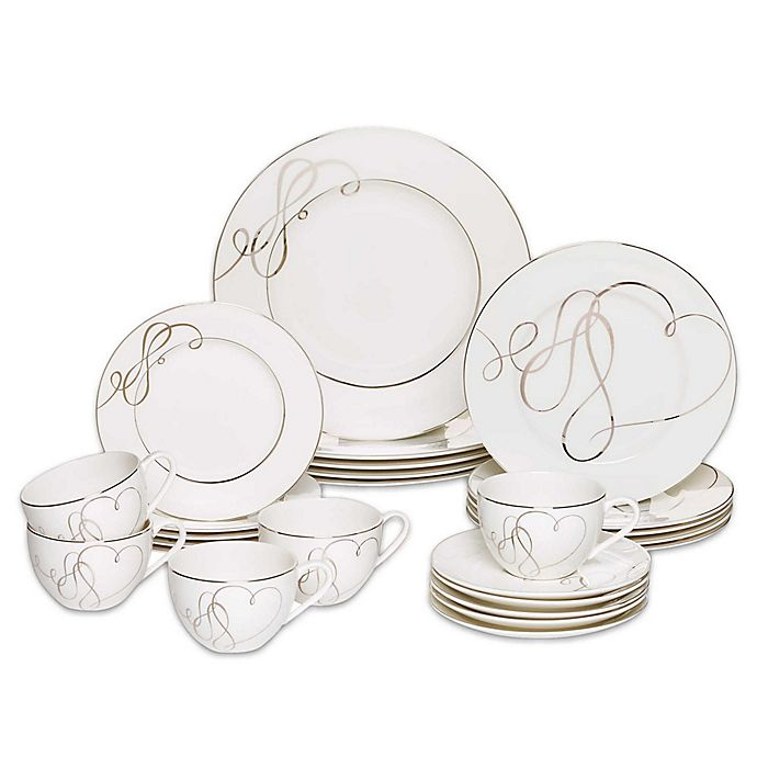Alternate image 1 for Mikasa® Love Story 20-Piece Dinnerware Set