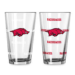 University of Arkansas Color Changing 16-Ounce Pint Glasses (Set of 2)