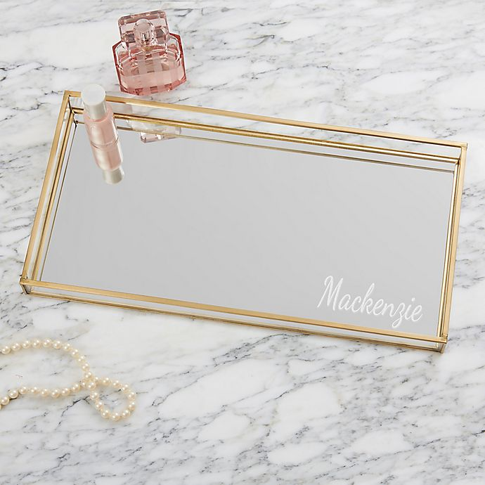Classic Celebrations Personalized Vanity Tray | Bed Bath & Beyond
