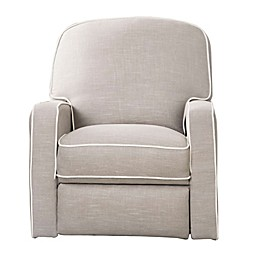Abbyson Living Sophie Swivel Glider Recliner in Grey