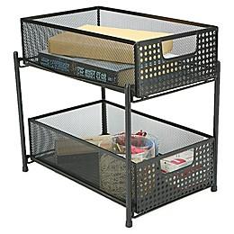Mind Reader 2-Tier Storage Basket Organizer
