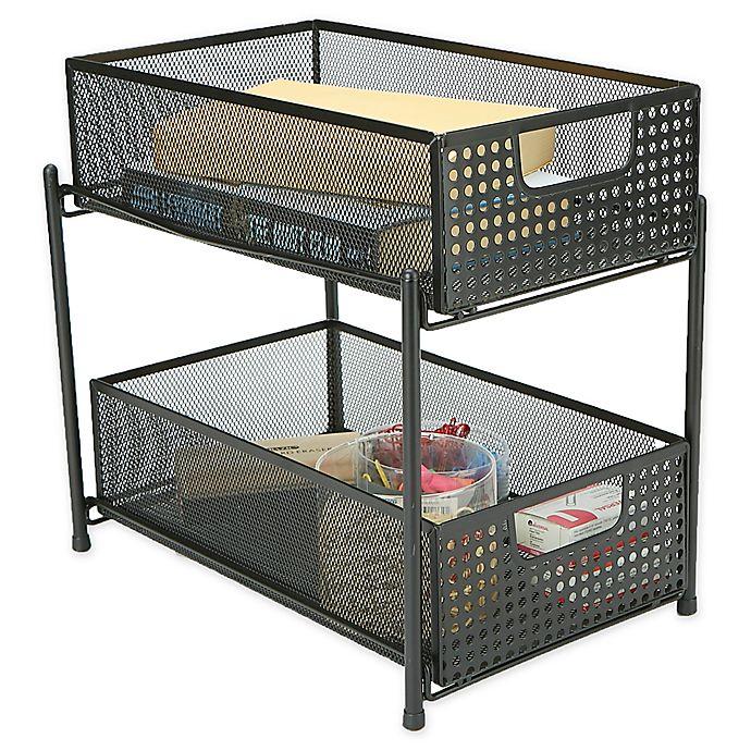 Alternate image 1 for Mind Reader 2-Tier Storage Basket Organizer