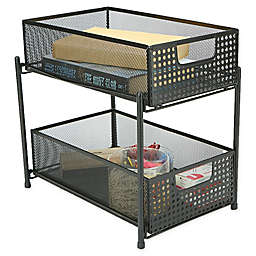 Mind Reader 2-Tier Storage Basket Organizer