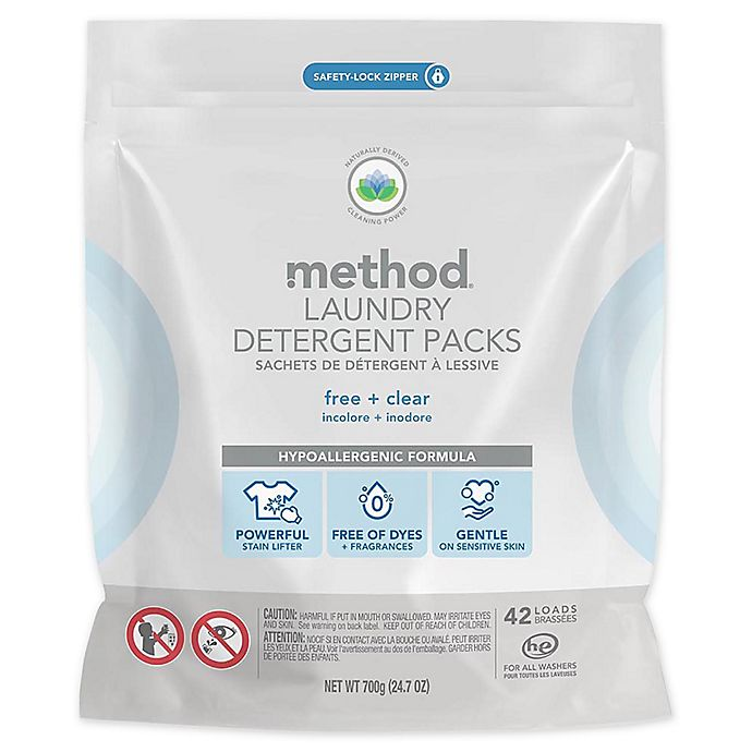 Alternate image 1 for Method® 42-Count Laundry Detergent Packs in Free & Clear