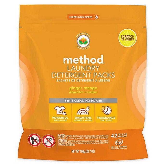 Alternate image 1 for Method® 42-Count Laundry Detergent Packs in Ginger Mango