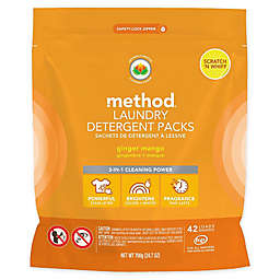 Method® 42-Count Laundry Detergent Packs in Ginger Mango
