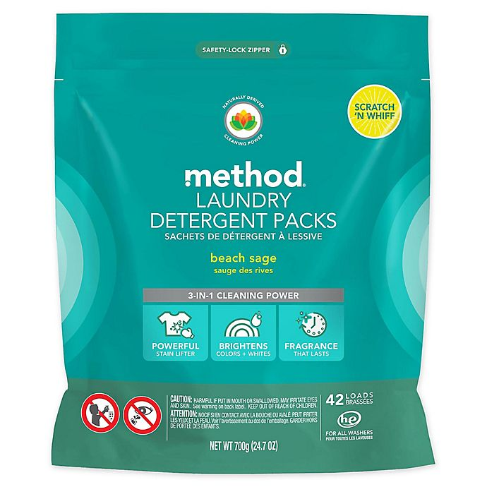 Alternate image 1 for method 42-Count Beach Sage Laundry Detergent Packs