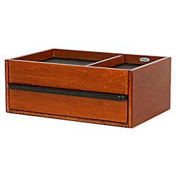 Mele & Co. Darien Men's Wooden Dresser Top Valet in Walnut