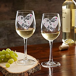 So In Love Valentine's Day Couple Stemless Wine Glass