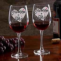 So In Love Valentine's Day Couple Red Wine Glass