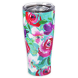 Evergreen Floral Party Double Wall Stainless Steel Travel Mug