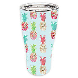 Evergreen Pineapple Double Wall Stainless Steel Travel Mug