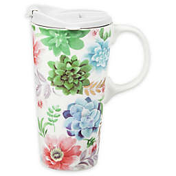 Evergreen Fresh Succulents 17 oz. Travel Mug