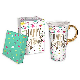 Evergreen Happy Birthday Ceramic Travel Cup