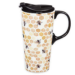 Evergreen Happy To Bee Ceramic Travel Cup