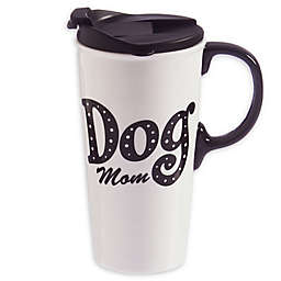 Evergreen Dog Mom Ceramic Travel Cup