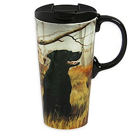 Evergreen Black And Yellow Dogs Ceramic Perfect Cup