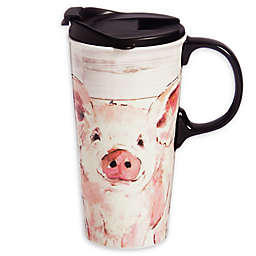 Evergreen Pretty Pink Pig Ceramic Perfect Cup