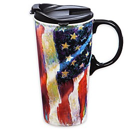 Evergreen™ American Flag Gift Boxed Travel Mug