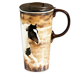 Evergreen Realistic Horse Ceramic Perfect Cup