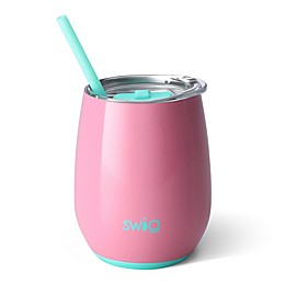 Swig™ Insulated Stemless Wine Cup with Straw