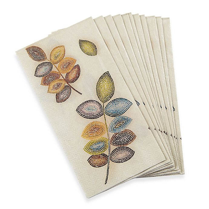 Croscill Hand Towels: Croscill Mosaic Leaves 16-Pack Guest Towels