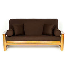 Royal Heritage Cotton Futon Cover in Brown
