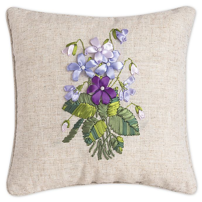 C&F Home™ Floral Square Throw Pillow in Purple | Bed Bath & Beyond