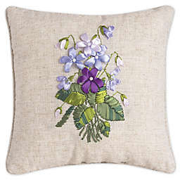 C&F Home™ Floral Square Throw Pillow in Purple
