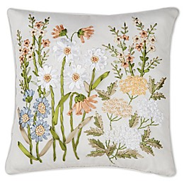 C&F Home™ Wildflower Ribbon Art Square Throw Pillow in Green