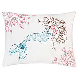 C&F Home™ Coral Mermaid Print Oblong Indoor/Outdoor Throw Pillow in White