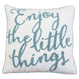 Thro Enyana Towel Stitch Throw Pillow in Bright White