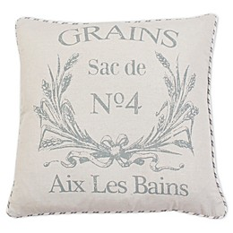 Thro Grain Ticking Stripe Throw Pillow in Natural