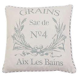 Thro Grain Ticking Stripe Throw Pillow in Natural