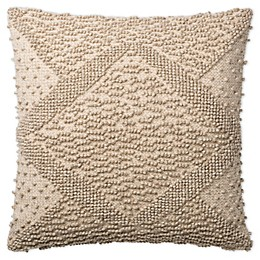 Magnolia Home By Joanna Gaines Madeline Textured Square Throw Pillow in Natural