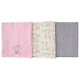 Gerber® 3-Pack Knit Animal Burp Cloths in Pink