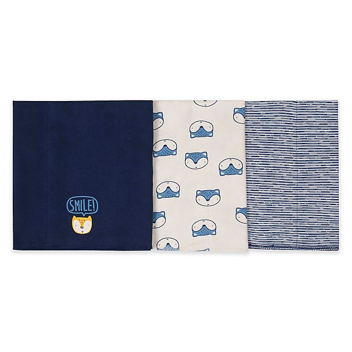 f3ddcb01c Gerber® 3-Pack Knit Animal Burp Cloths in Blue | buybuy BABY